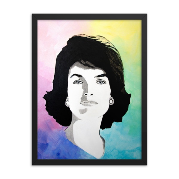 jackie kennedy art print portrait