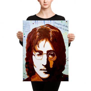 John Lennon – IMAGINE Portrait Canvas Print
