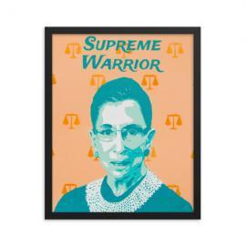 Supreme Court Warrior Ruth Bader Ginsburg Framed print