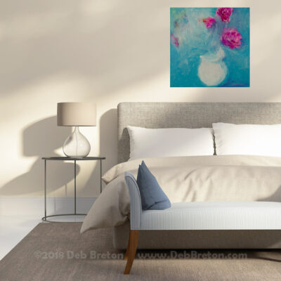 Small abstract painting in living area