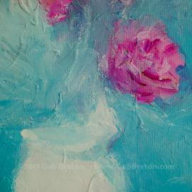 Abstract Still Life Flowers Square Painting