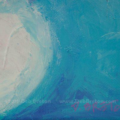 Artist signature on abstract still life painting