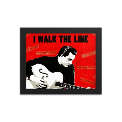 Johnny Cash Framed Poster