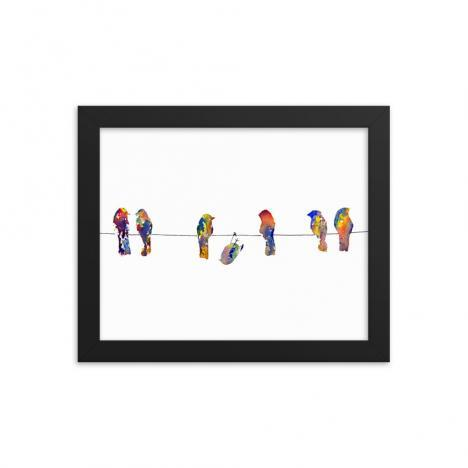 Show Off – Birds on a Wire – Framed poster