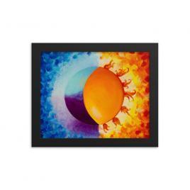 Balancing Sun and Moon – Framed Poster