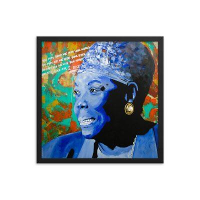 Maya Angelou – Still I Rise – Framed print – 18×18