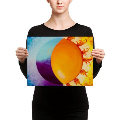 Balancing Sun and Moon – Canvas Print