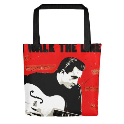 Johnny Cash Tote Bag – I Walk the Line