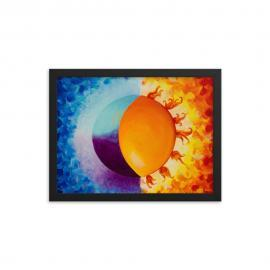 Balancing Sun and Moon – Framed Poster