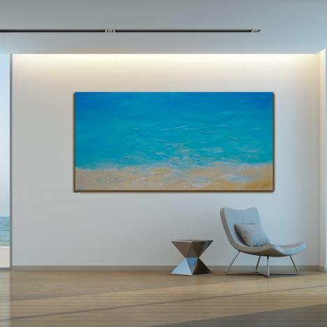 Day at the Beach – Large Minimalism Painting