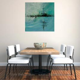 mystic dawn painting in home