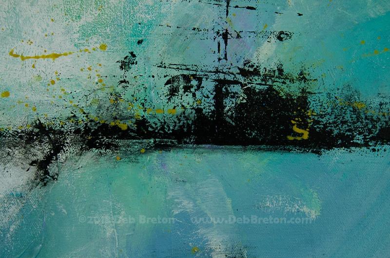 Mystical dawn - painting's details