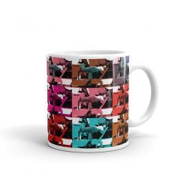 Colorful Charlie Chaplain Mug