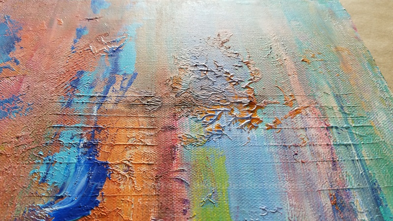 from the fire abstract painting