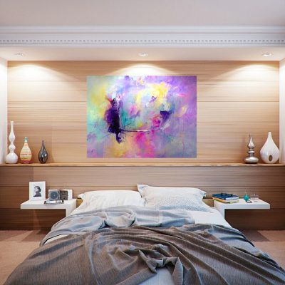 Floating Vortex of Thought – Large Abstract Painting
