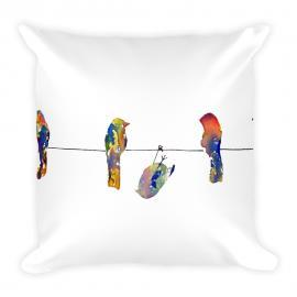 Birds on a Wire – Stuffed Pillow