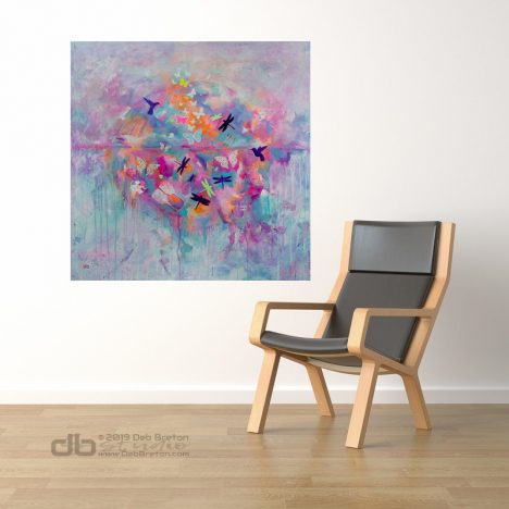 Dreams Take Flight – Colorful abstract painting