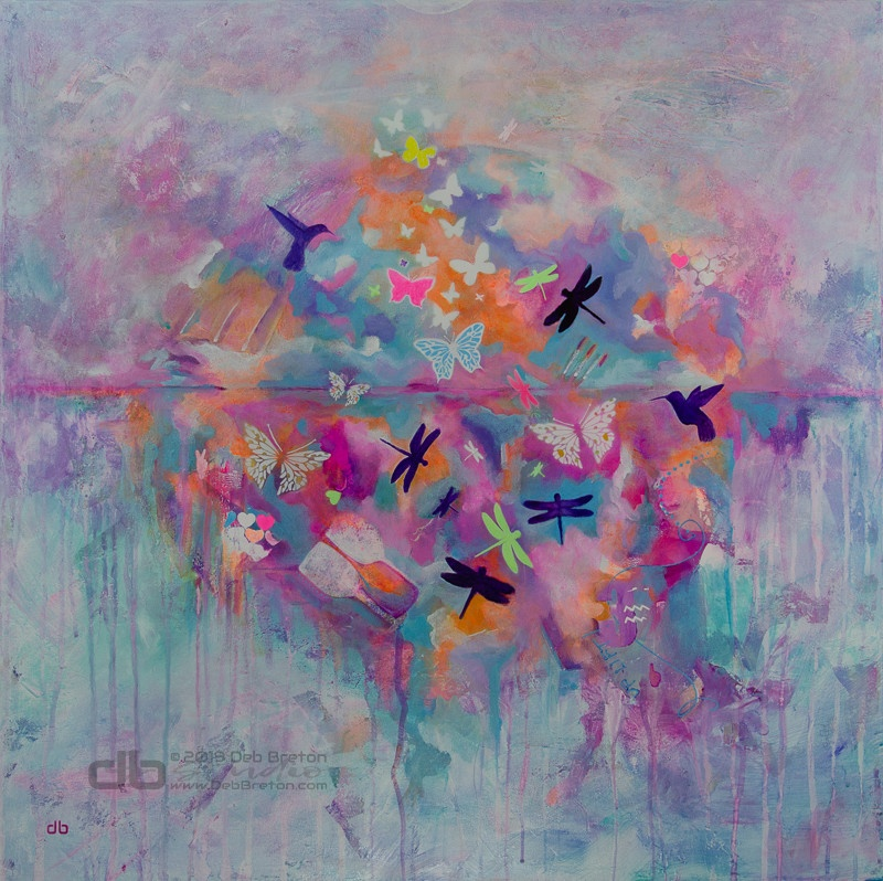 Dreams Take Flight abstract painting from FLIGHT series