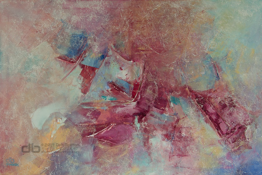 IN FLIGHT large abstract painting details
