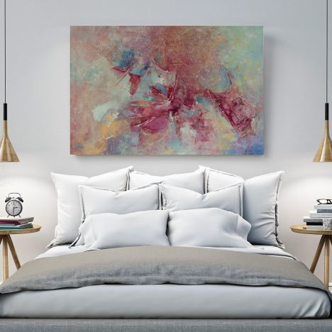 IN FLIGHT Large Abstract Painting in Earth-tones