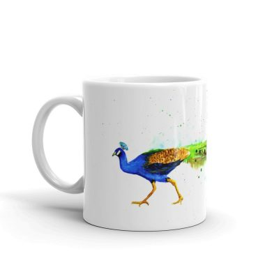 Watercolor Peacock Mug