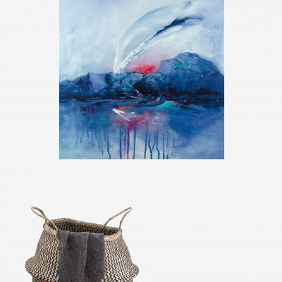 As above So below – Abstract landscape with mountains painting