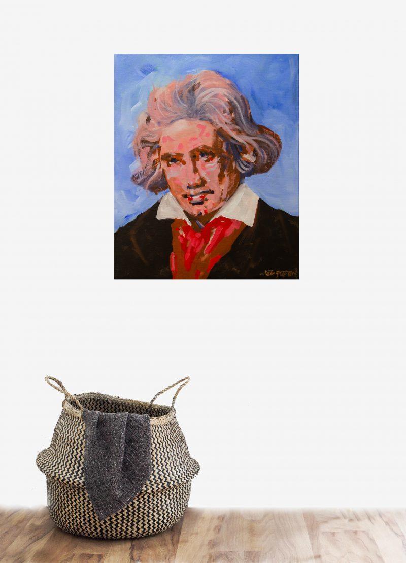 Ludwig Van Beethoven painting in foyer