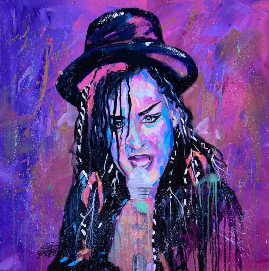 Boy George Portrait Painting