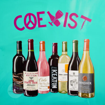 COEXIST Wine Art Painting