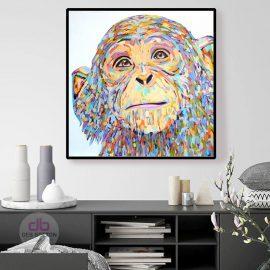Chimp Love – Original Painting
