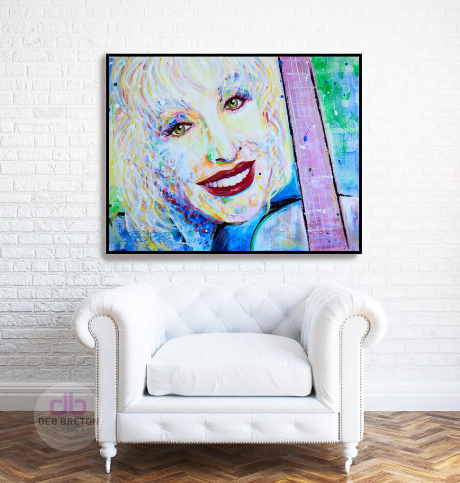 dolly parton portrait hanging up