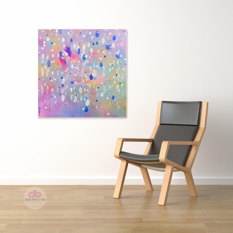 Effervescence - FEELING FESTIVE painting in situ