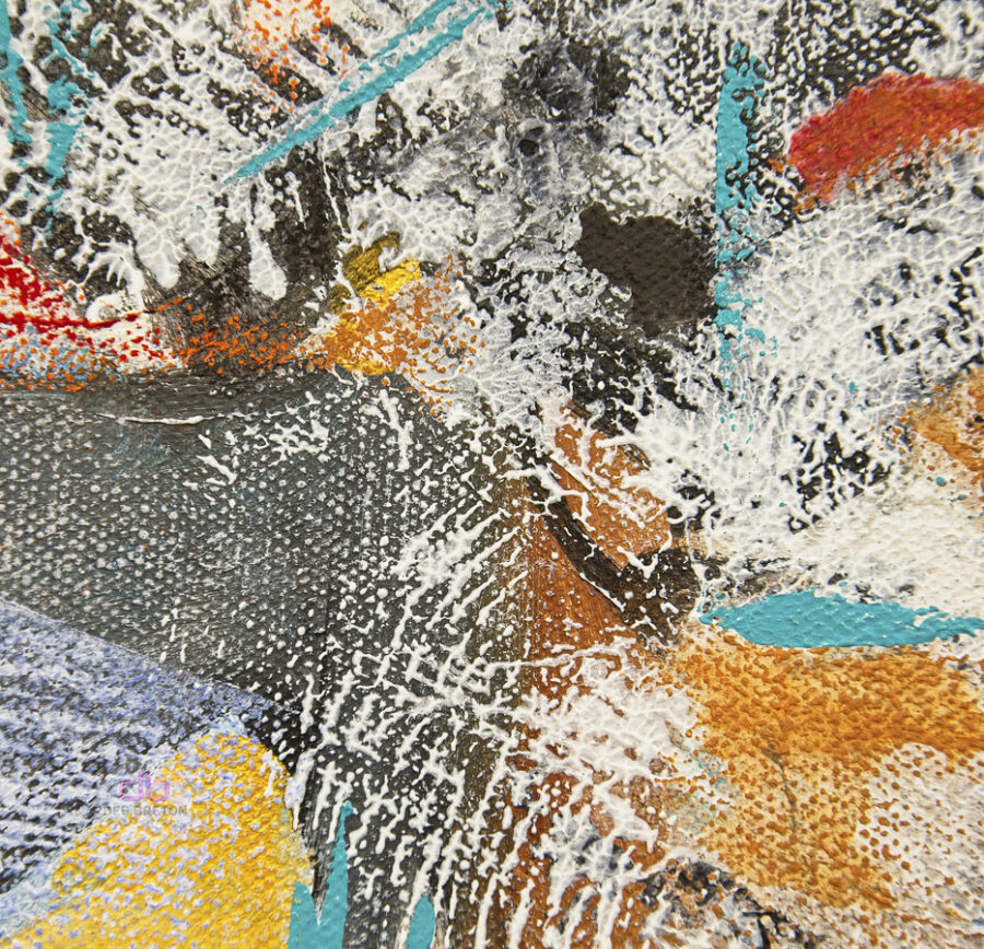 Details of mixed media painting