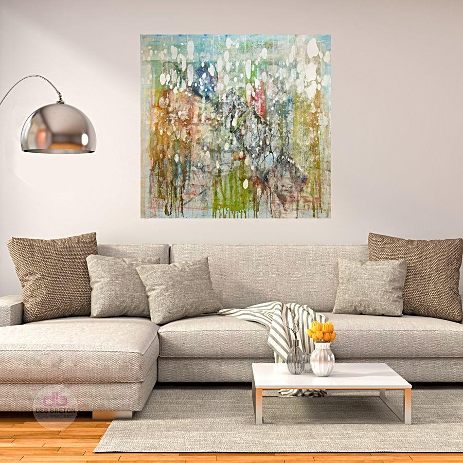 original painting in room