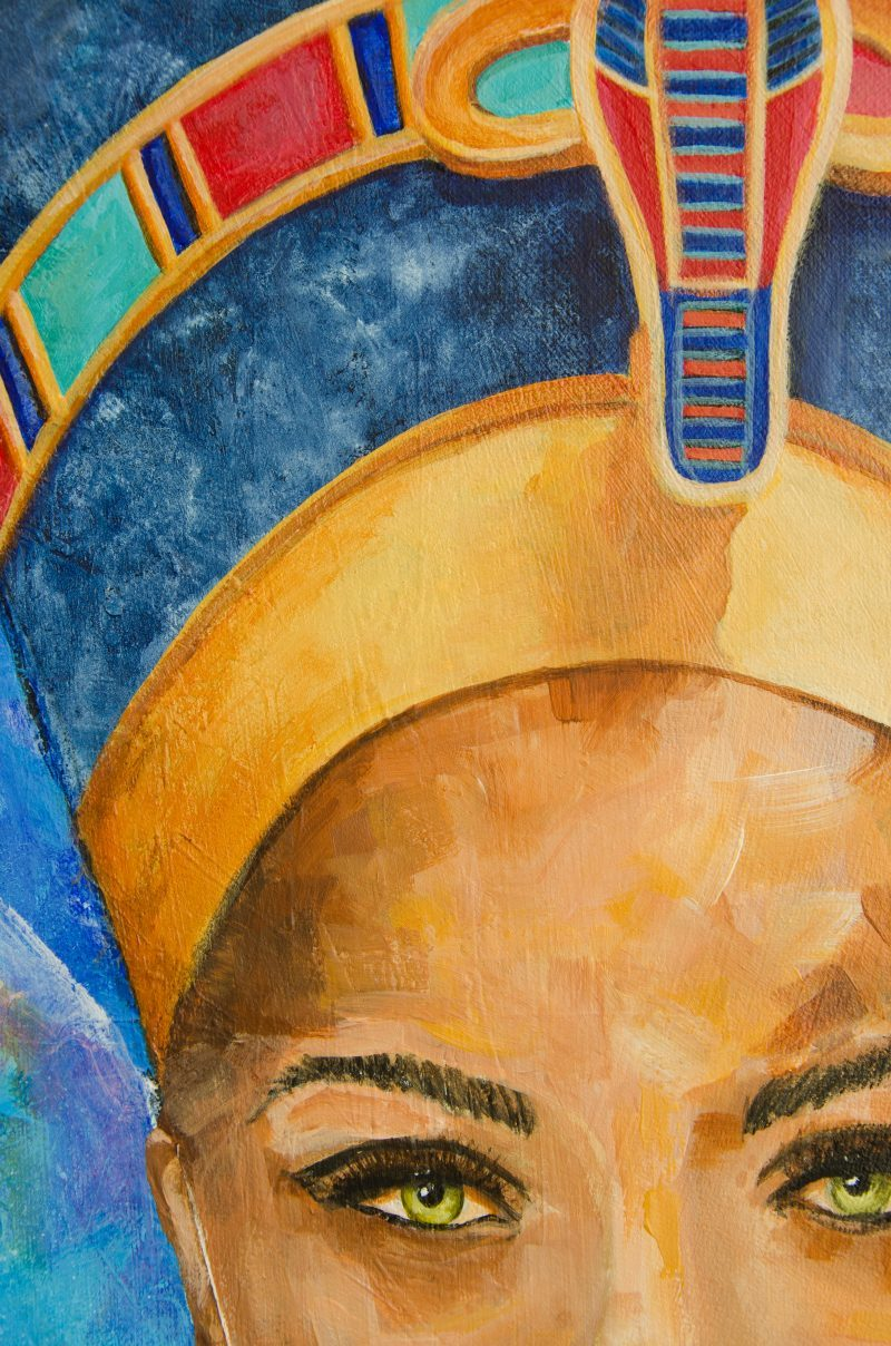 "Nefertiti portrait painting18 x 24"" by Deb Breton"