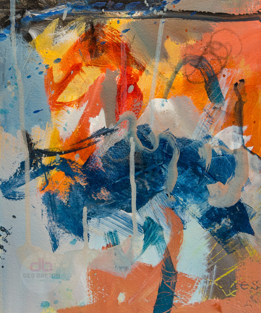 abstract painting in situ