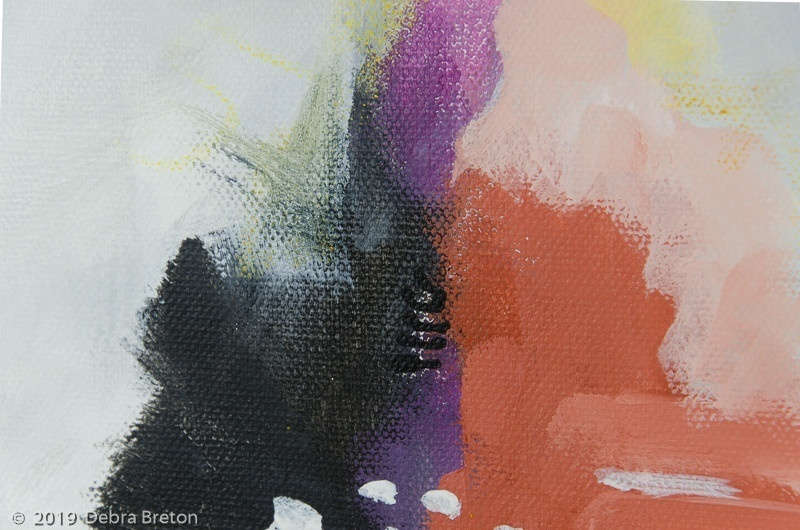 ESCAPE - What 4 Abstract Square painting with gestural marks -