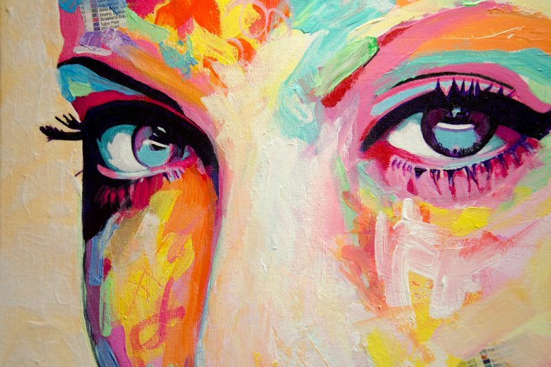 vibrant eyes painting art