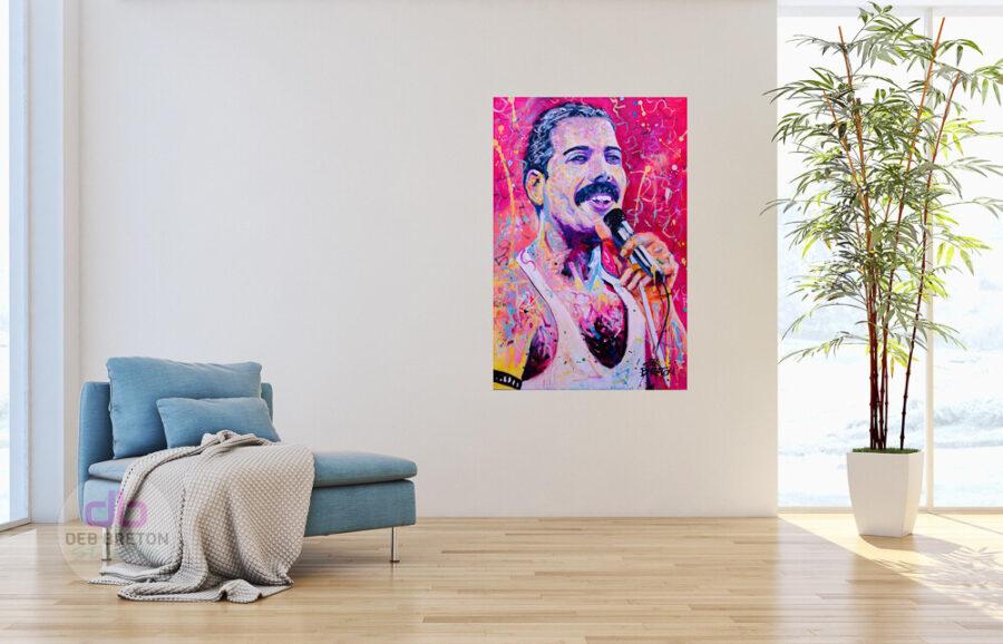 Freddie Mercury painting in situ