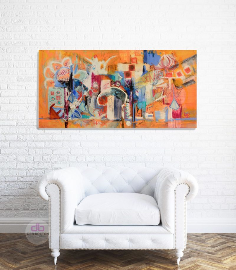 expressionist painting in situ