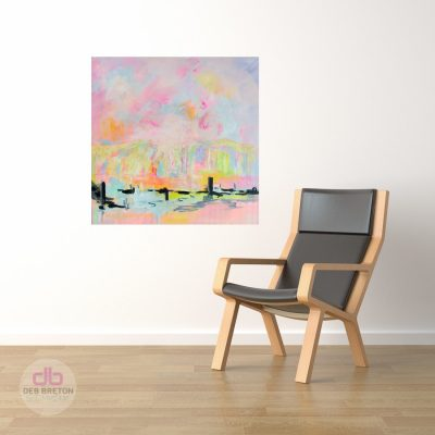In the Mist – Brightly colored modern painting