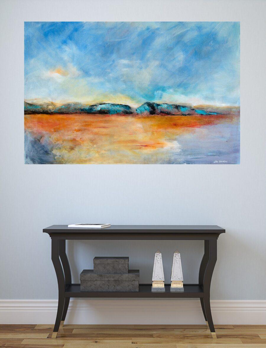 original isolation painting in situ