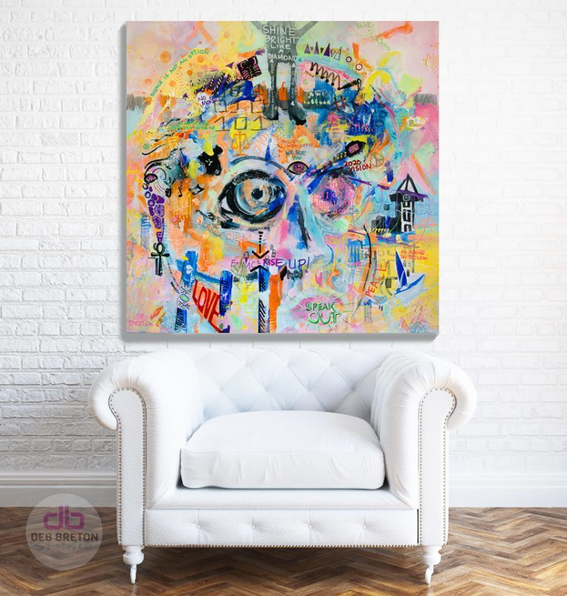 It's Time! Expressionist Painting in living area