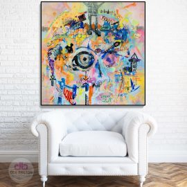 IT'S TIME – a neo-expressionism art painting