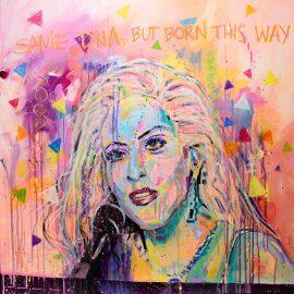 Lady Gaga Portrait Painting