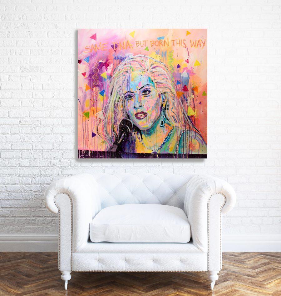 lady gaga portrait in situ
