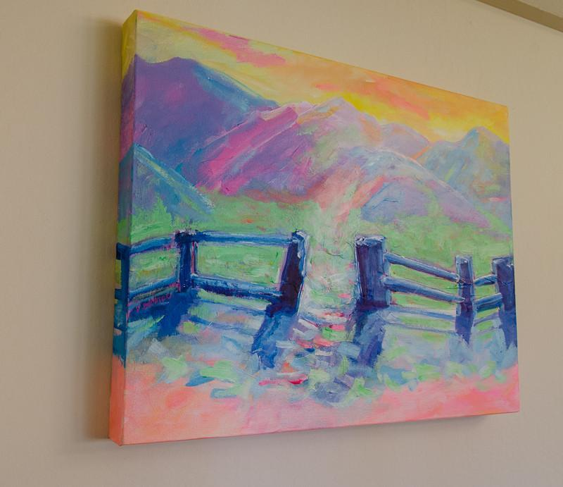 Springtime in Mountains painting on canvas