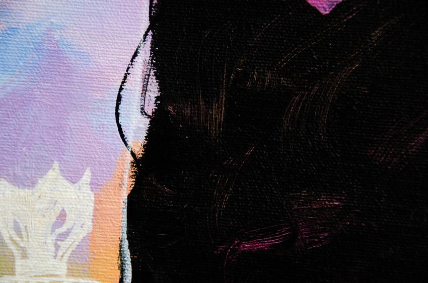 brush strokes make hair highlights visible