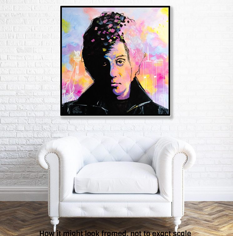 Billy Joel - New York State of Mind painting