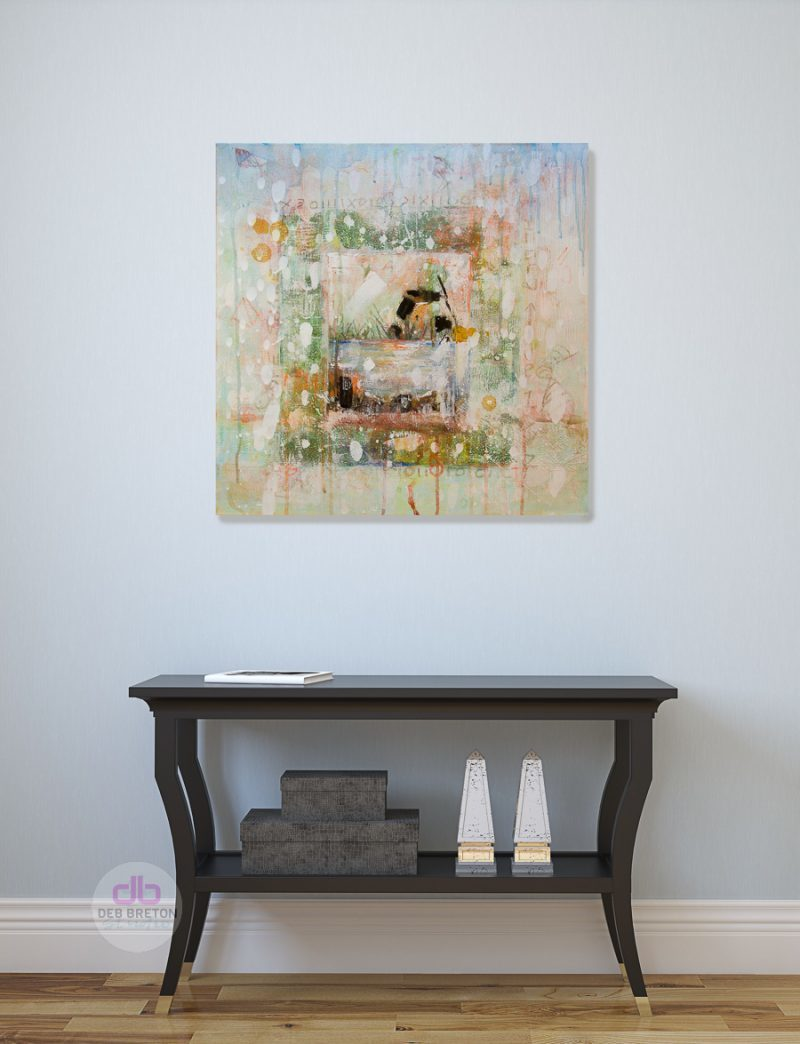 Effervescence - Piece of Peace painting in foyer